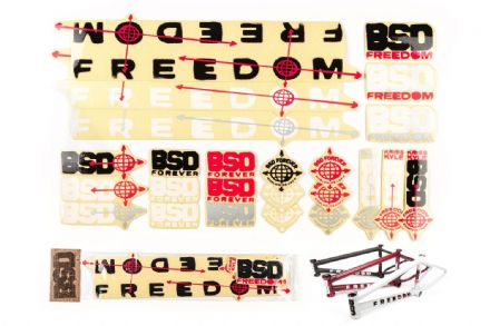 BSD Frame Sticker Packs - Freedom 2019